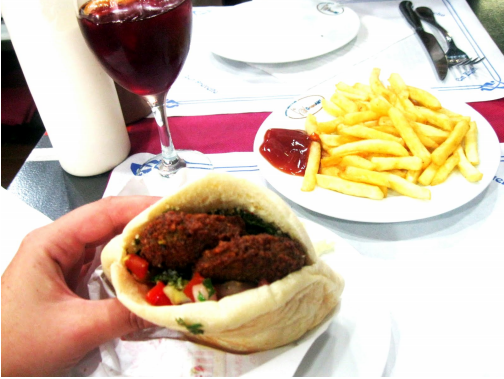 Falafel and Sangria in Barcelona, Spain