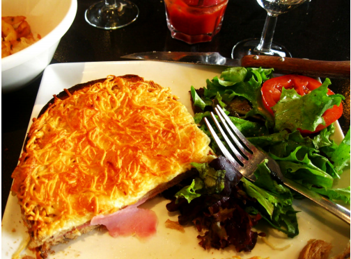 Croque Monsieur in Paris, France