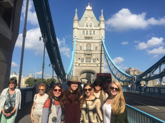 The group on Tower Bridge