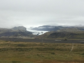 Glacier seen on drive to Vik