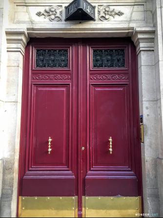 Red Door in Paris, France