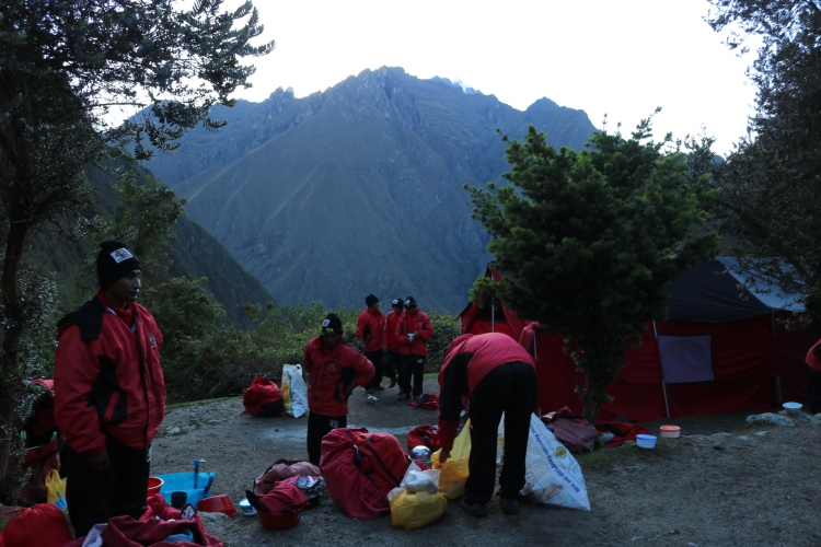 Porters packing up