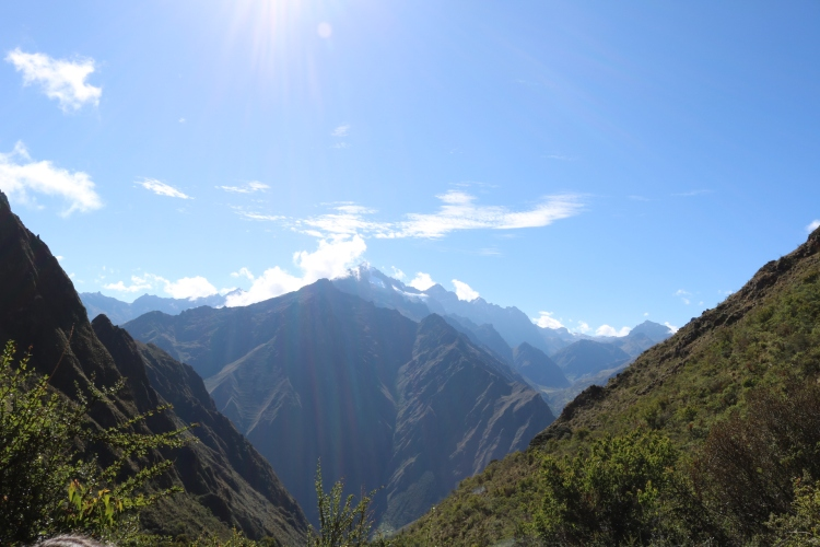 Beautiful views on the Inca trail